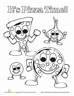 pizza coloring pages for preschool - photo#1