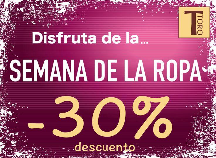Semana de la ropa!!!  30% de descuento