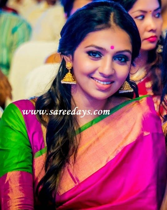 pink and green pattu saree - Google Search