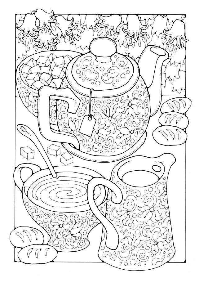 Tea : A Colouring Book of Pictures and Patterns (Pictures to Colour In) - Kindle edition by Dandi Palmer