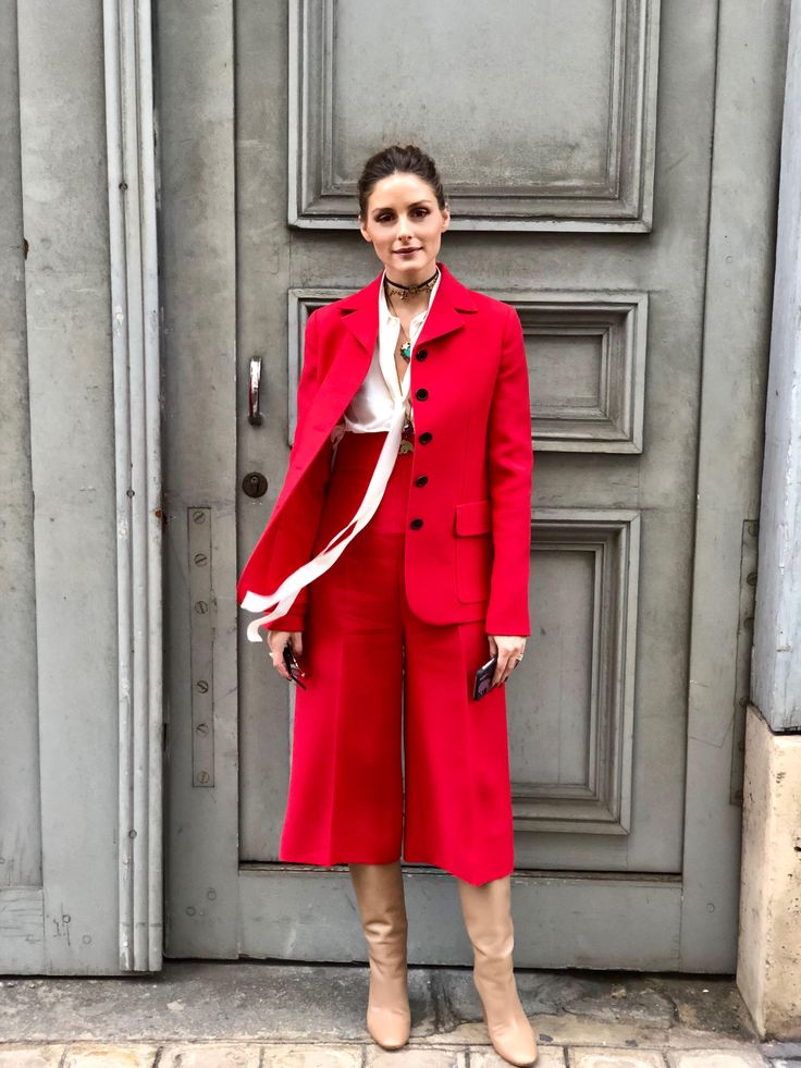 Day one of couture is behind us and it was quite a busy one at that. To be specific, five-shows-and-a-dinner busy for our own OP which means, a few costume changes were in order. She started the da…