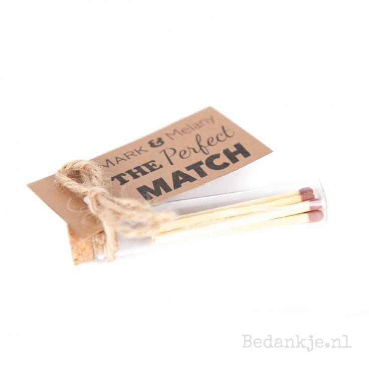 Perfect match - Trouwbedankjes - Bedankje.nl - Maakt bedankjes persoonlijk!