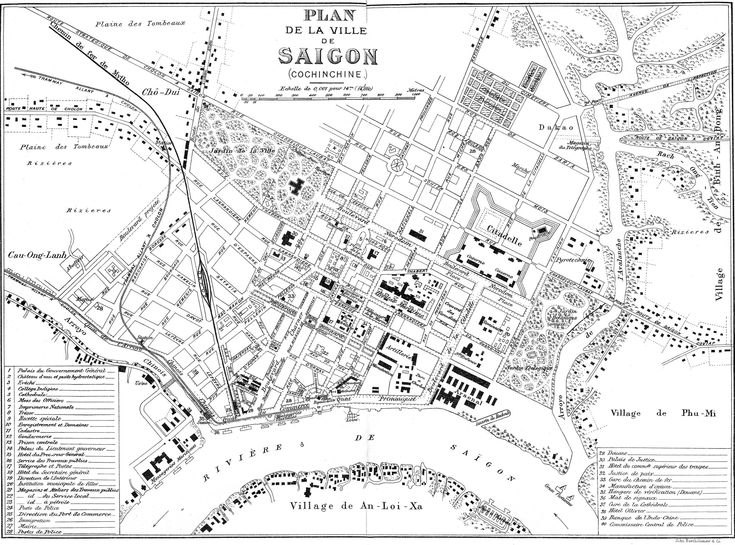 Old Saigon Map Pinterest