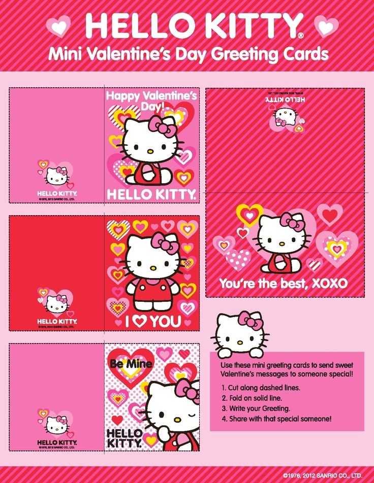 #HelloKitty #Valentines! Just click and print!