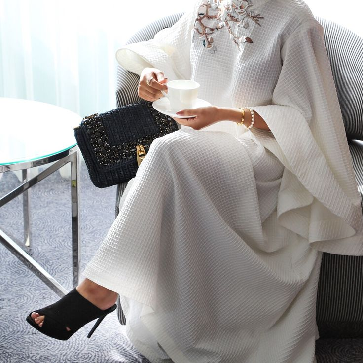 Drink coffee and do good ☕️. Dress by @almayyasa