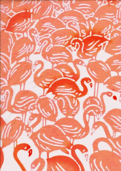 red and pink flamingo pattern: Graphics Art, Flamingos Patterns, Pink Feathers, Fashion Style, Pink Flamingos, Conver Prints, Design Patterns, Flamingos Prints, Flamingos Art