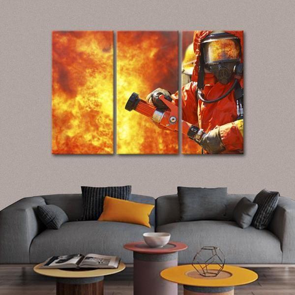 Brave Fireman Multi Panel Canvas Wall Art Canvas Wall Art Multi Panel Canvas Wall Art