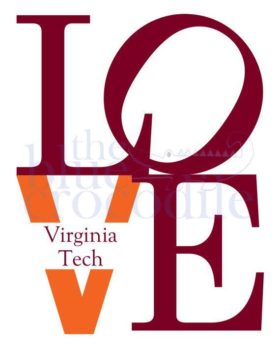 VT Love, Virginia Tech instant download on Etsy, $5.00