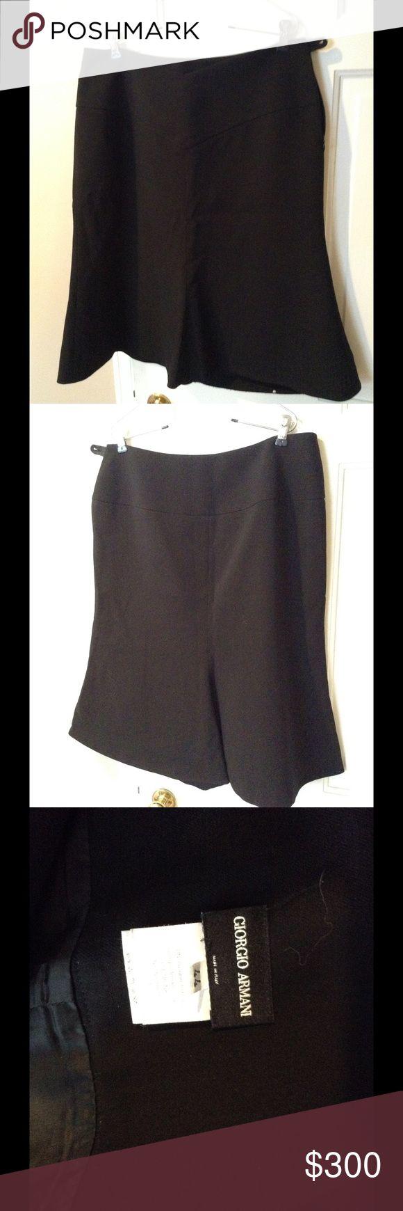 Giorgio Armani Black Skirt Giorgio Armani Black Skirt. Size 44 (10 US). Zips at side. Flare-hem skirt. Giorgio Armani Skirts A-Line or Full