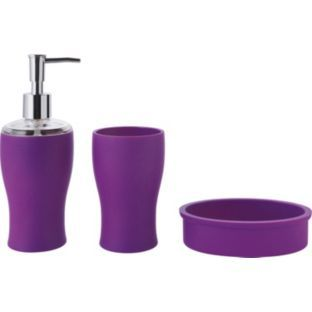 Bathroom Accessories Purple buy colourmatch bathroom accessories set - purple fizz at argos.co
