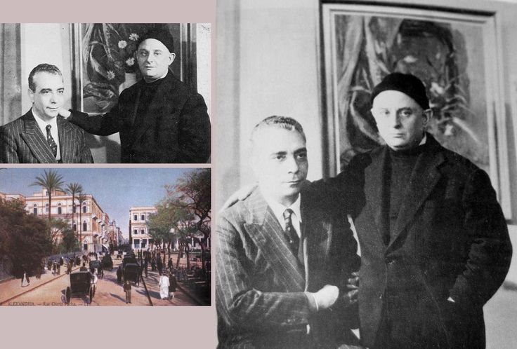 Στρατής Τσίρκας και Νίκος Καββαδίας στην Αλεξάνδρεια.