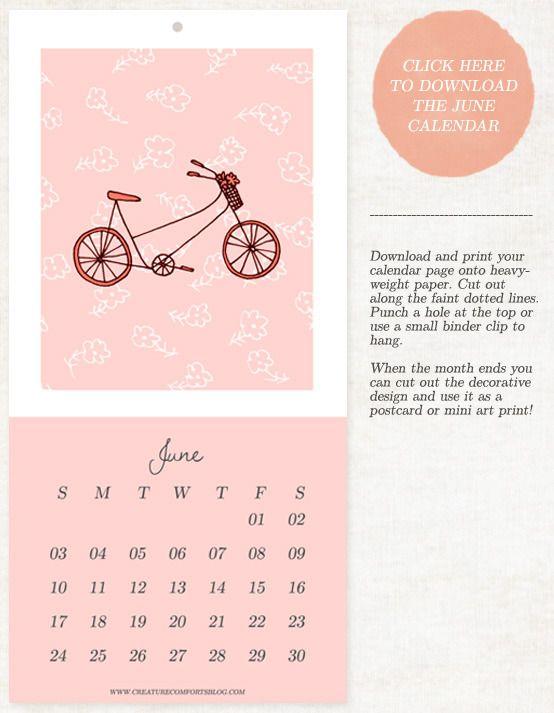 Monthly Printable 2012 Calendar | Printables | Pinterest
