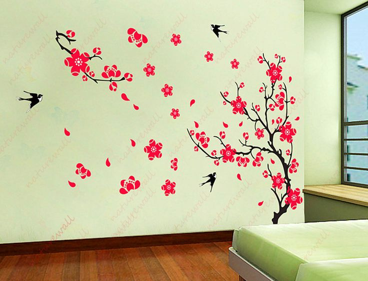 Cherry Blossom Wall Decals Kids Wall Decal Flower Decals Tree Decals Red  Decals Baby Nursery Girl Part 71
