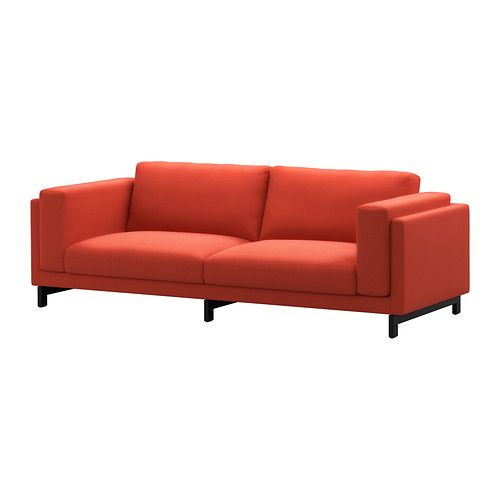 NOCKEBY Sofa - Risane orange, wood - IKEA