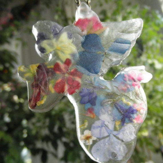 Heavenly Garden Angel Resin by giftforallseasons on Etsy