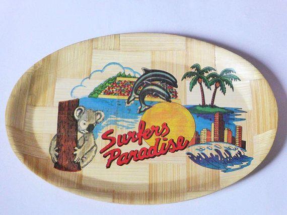 Surfers Paradise Formosa Serving Tray Vintage Souvenir