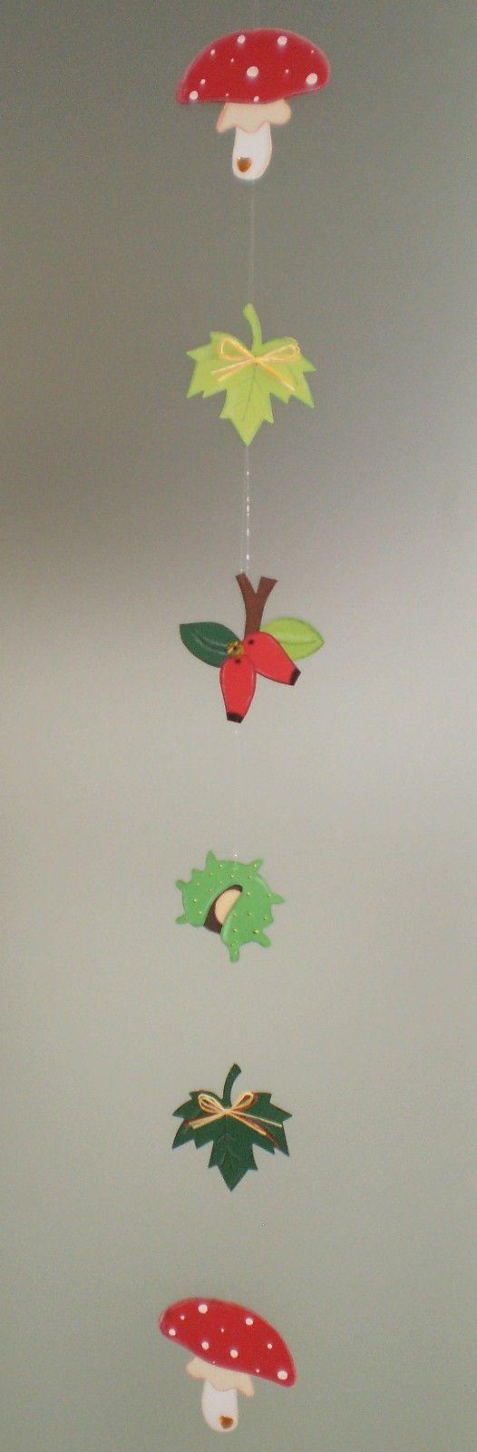Fensterbild Bunte Herbstkette -Herbst- Dekoration - Tonkarton! 4 • EUR 10,00