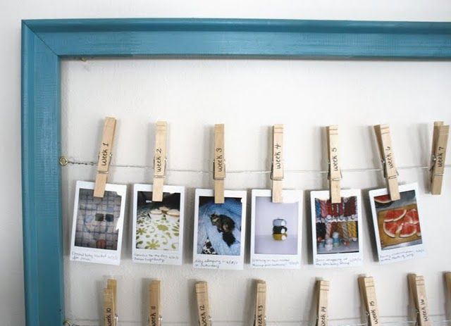 52 Weeks of instant pictures like Polaroid or Instax! What a great idea - I could really see this frame in my living room!