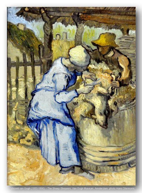 Vincent van Gogh (1853-1890) – The Sheep-Shearers. Van Gogh Museum, Amsterdam. Post-impressionisme