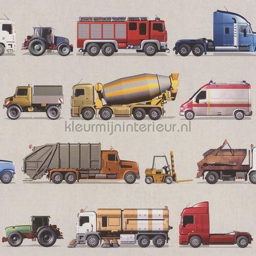 Vrachtwagens behang 293906 uit de collectie Kids and Teens II van Rasch online bestellen bij kleurmijninterieur