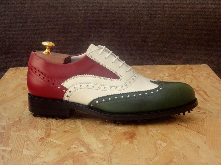 SAINT GERAN  #scarpe da #gollf realizzate con pregiato pellame di vitello pienofiore di adeguato spessore