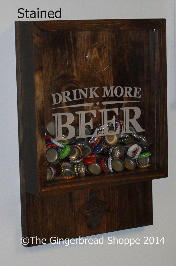 drink more beerbottle cap holderbottle openerbeer decorbar decor - Bar Decor