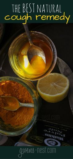 the BEST natural cough remedy- using ingredients you may already have in your kitchen. This stuff WORKS!