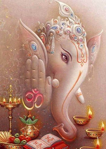 Lord Ganesha My favorite God the first that you pray to for enlightenment,the God of overcoming obstacles and patron saint of the arts. Whether you believe in this sort of thing or not the legend is compelling.