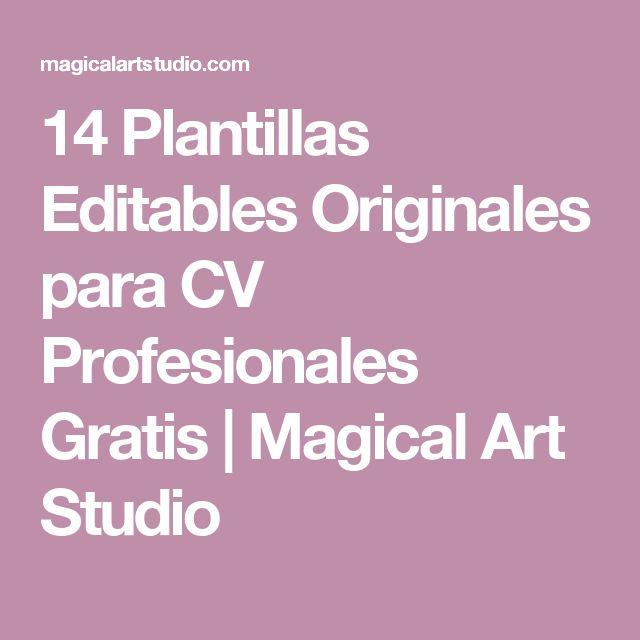 14 Plantillas Editables Originales para CV Profesionales Gratis | Magical Art Studio