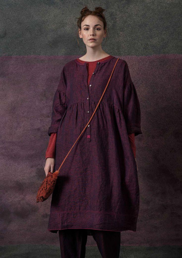 Kleid aus Öko-Leinen-Chambray – Verena Sch.