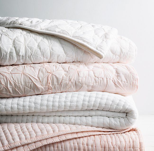 Rh Baby Child S Puckered Voile Quilt Airy Cotton Voile Is Stitched Into Puckered Channels For Visual Texture An Voile Quilts Cozy Throw Blanket Toddler Quilt