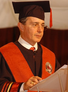 ALVARO URIBE VÉLEZ, Former President of Colombia, was awarded Honorary Doctoral Degrees by Universidad Andrés Bello in 2006 and delivered speech at Unitec | La Universidad Global de Honduras, and event that was broadcasted to students, faculty and staff throughout the Laureate network in November 2010. #Education #LaureateIU