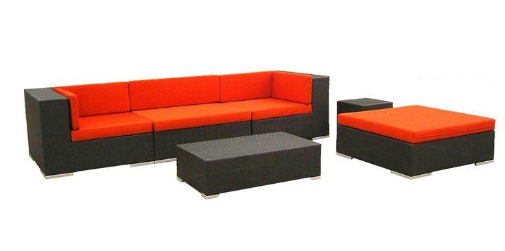 Modern Patio Furniture In Dark Brown/Cherry   $$1,845    Features: Set