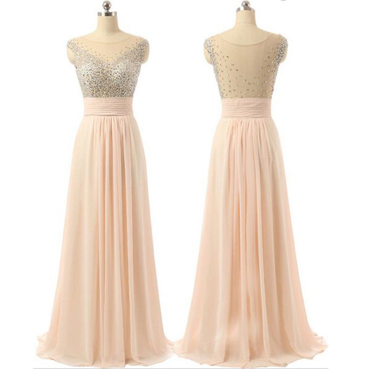 Chiffon See-through Back Cheap Charming Party Cocktail Evening Long Prom Dresses Online,PD0181 The dress is fully lined, 4 bones in the bodice, chest pad in the bust, lace up back or zipper back are a