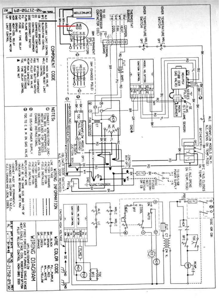 Gas Furnace Thermostat Wiring Diagram from i.pinimg.com
