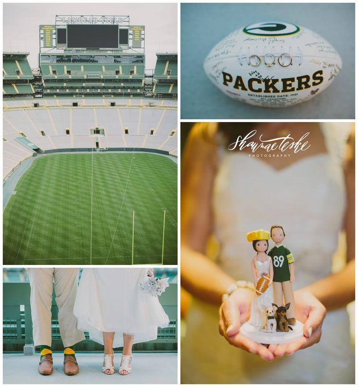 Classy Football Themed Wedding   Lambeau Field   Shaunae Teske Photography