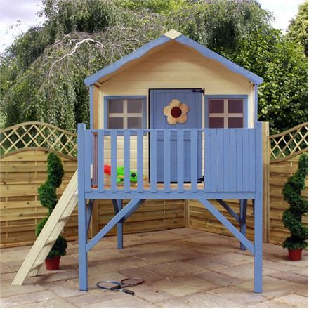 This  Waltons Honeysuckled Tower Playhouse is great if you don't have a huge garden because the legs give the illusion of more space. #spacetogrow #cute #playhouse