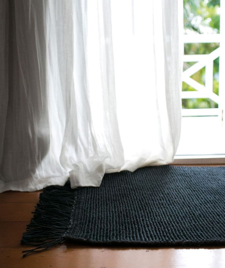 The Ribbed Entrance Mat Charcoal is natural and entirely hand woven by skilled artisans in India. It is made from 100% jute - warp 100% cotton and guaranteed to stand up to every day life. | huntingforgeorge.com