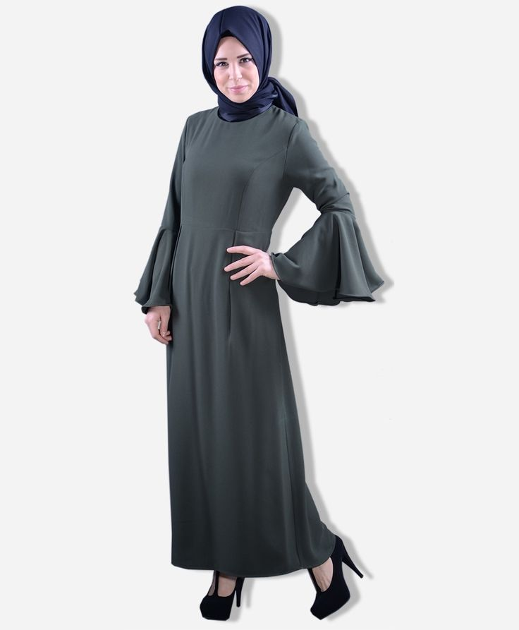Kolu Volanlı Elbise - BB3109