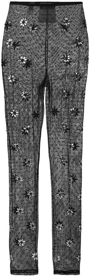 Moschino crystal embellished leggings