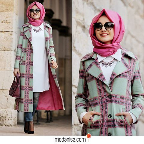elegant coat from modanisa, Evening Hijab Dresses for 2016 http://www.justtrendygirls.com/evening-hijab-dresses-for-2016/