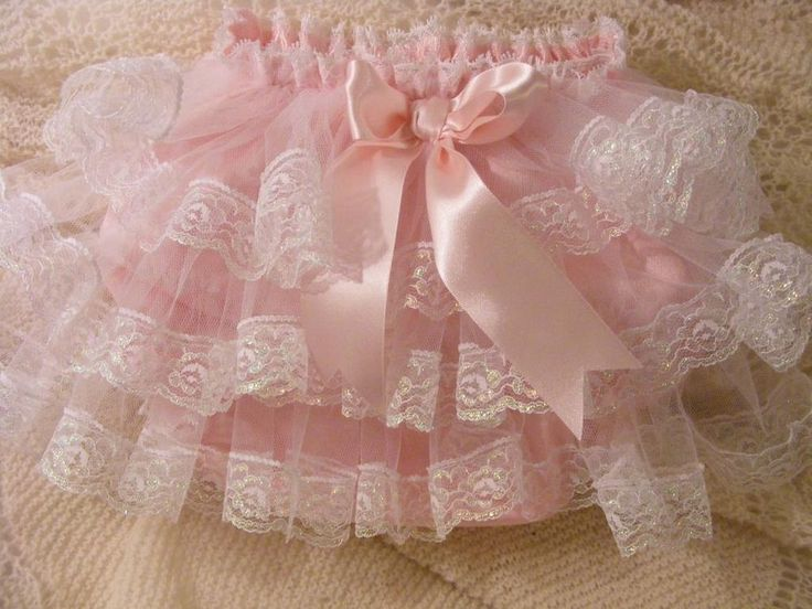 PINK SATIN  DUPION & LACE WITH TULLE FRILLY KNICKERS /PANTS~ALL SIZES AVAILABLE