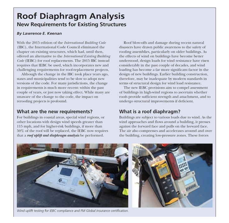 Roof Diaphragm Analysis New Requirements for Existing