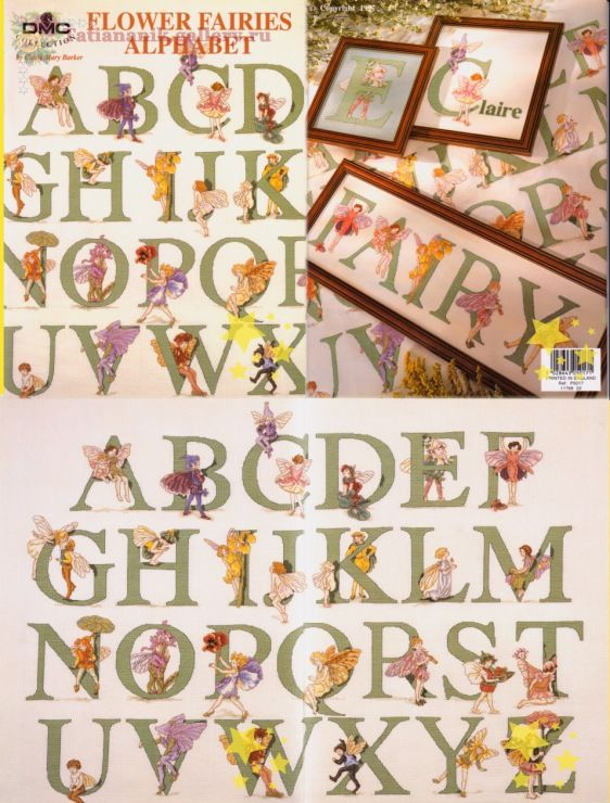 Cross stitch - fairies: Flower fairies alphabet - Cicely Mary Barker (free pattern with chart)