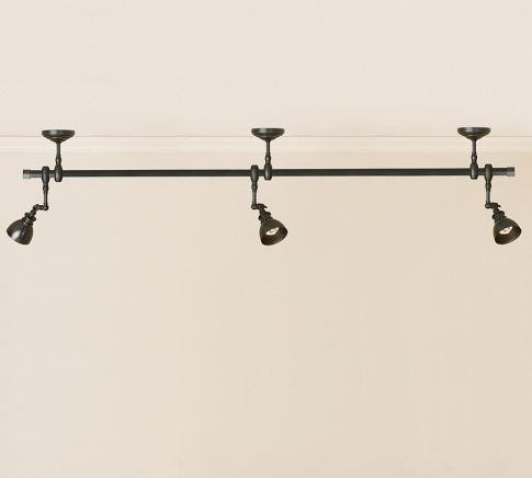 pottery barn track lighting. metal gallery spotlight track lighting pottery barn e