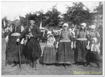 Wedding Dress, Marken Island c. 1916.