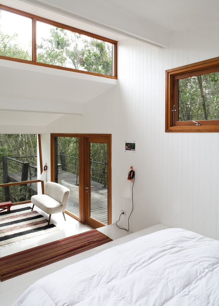 A Little Chilean Tree House That's One With the Canopy - Dwell #treehouse #chile #cabin #bedroom