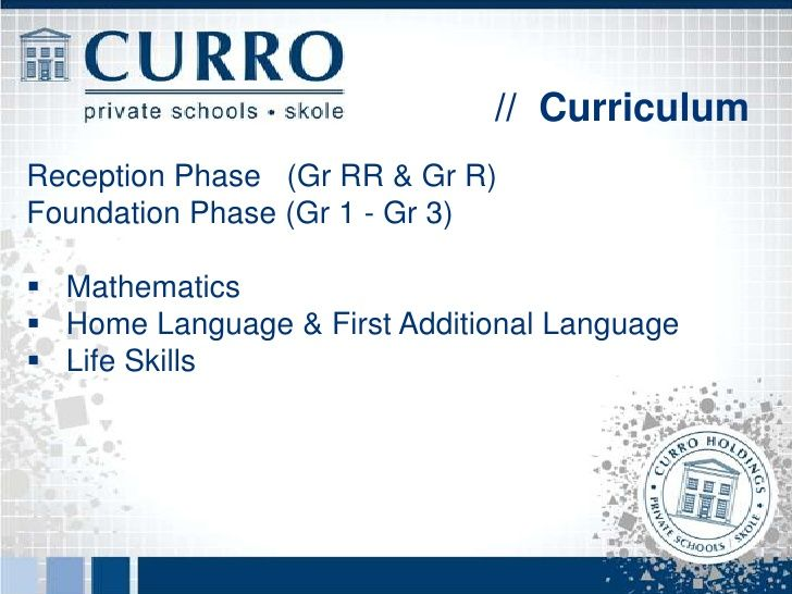 // CurriculumIntermediate Phase (Gr 4 - Gr 6) English & Afrikaans Mathematics Life Orientation Natural Sciences (Biolo...