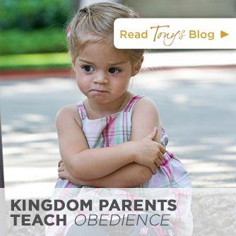 Tony Evans | Kingdom Parents Teach Obedience | http://tonyevans.org