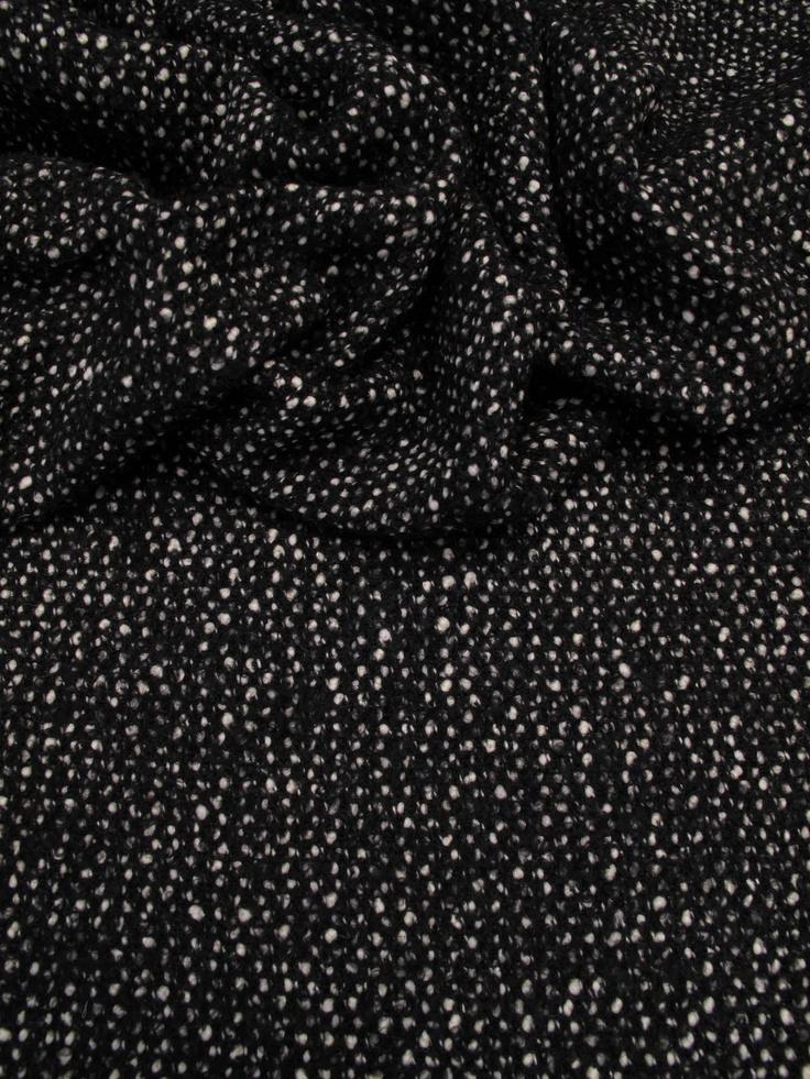 Tweed de laine Noir et Blanc